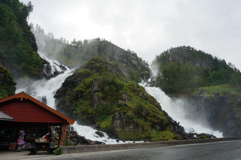Latefoss watervallen