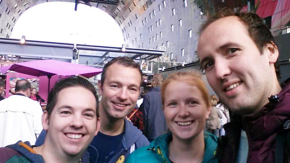 Het team van Liefde Voor Reizen in de Markthal in Rotterdam