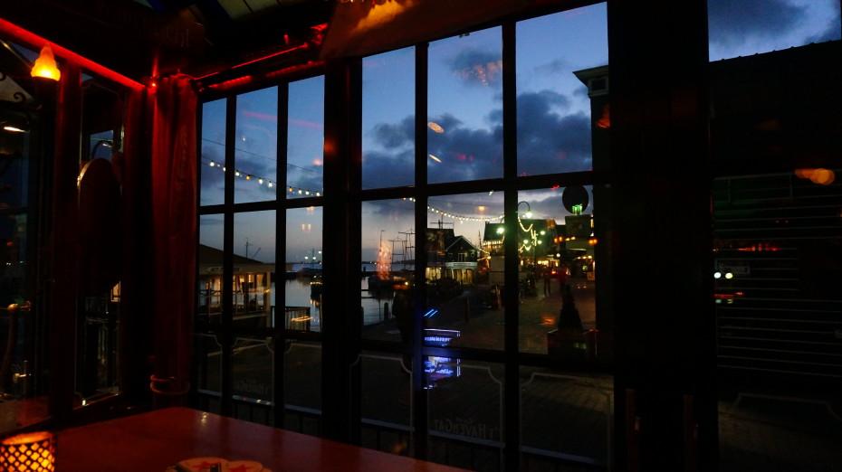 Uitzicht vanuit het restaurant 't Havengat