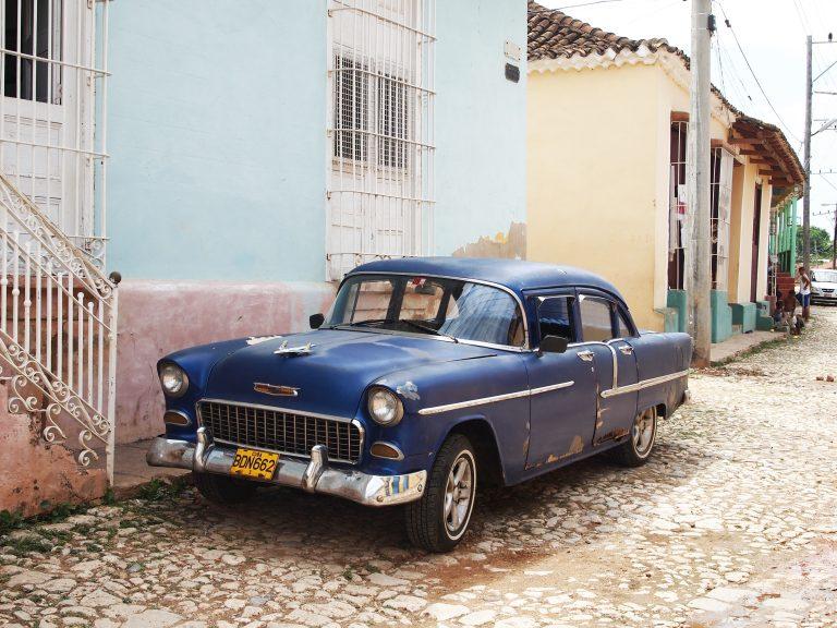 Oude auto in Trinidad