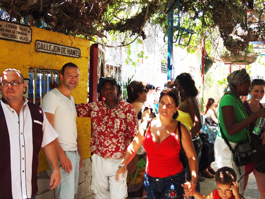 Cubaanse man die ons naar het muzikale evenement bracht.