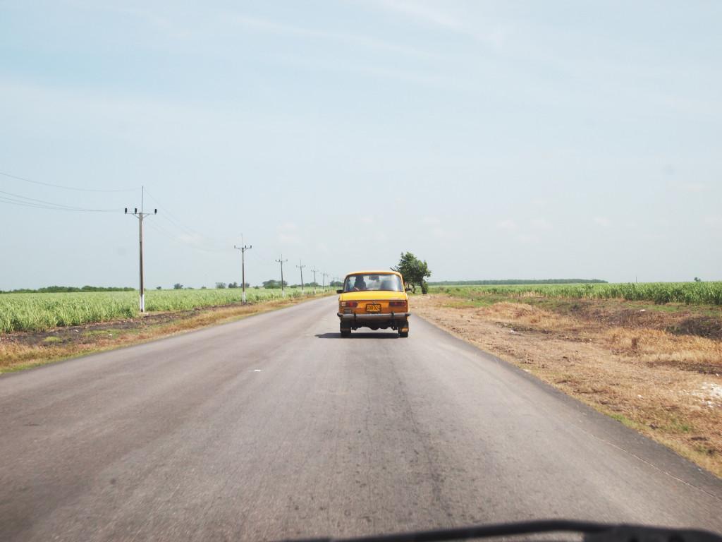 Onderweg naar ons eindpunt in Varadero.