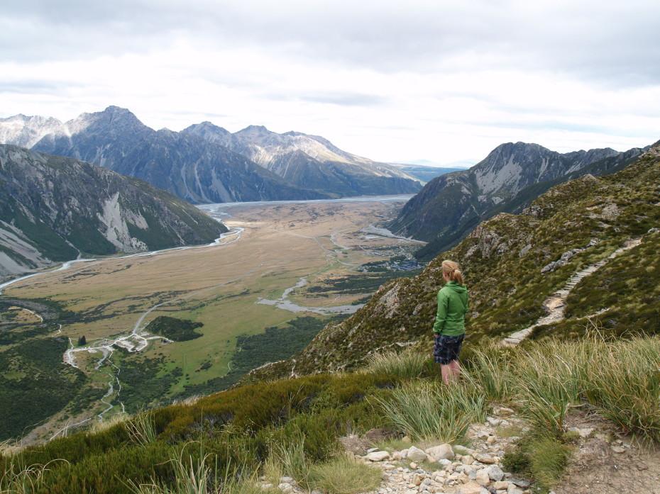 Wandeling in de omgeving van Mount Cook, wat een waanzinnig uitzicht!