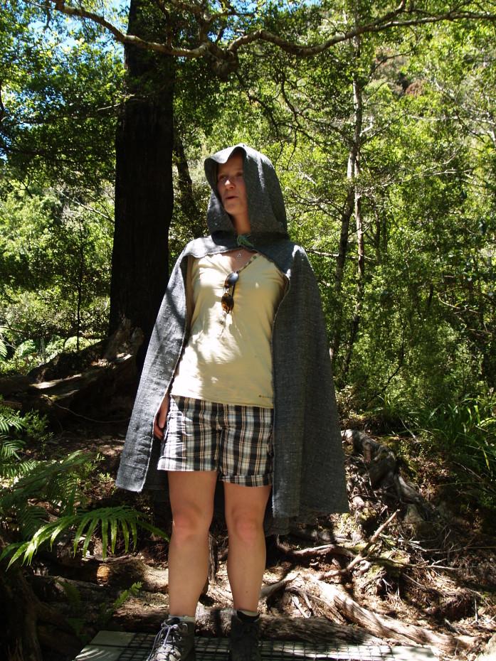 Verkleed als een elf tijdens de Lord of the Rings tour