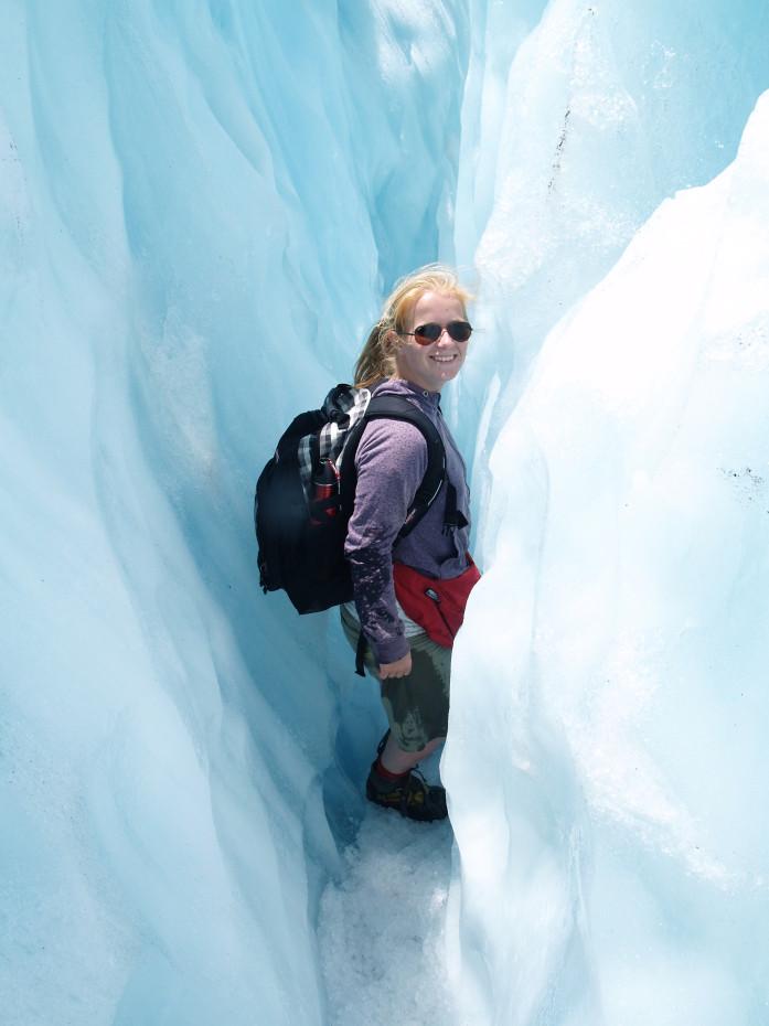 De ijswanden van de Franz Joseph glacier