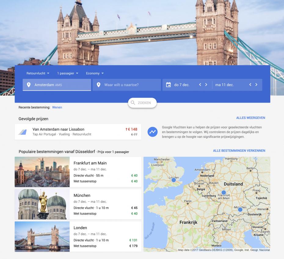 Google Flights is vernieuwd!