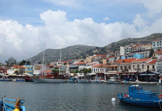 Terrasje pakken in Pythagorion - Samos