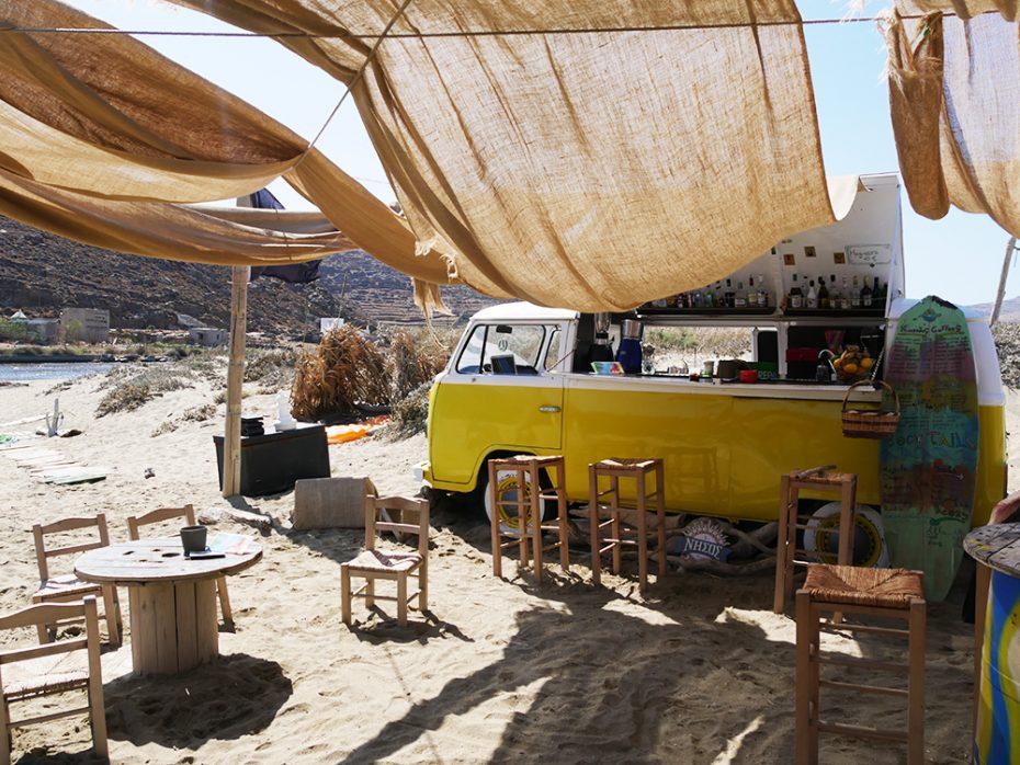 Strandtentje op Tinos