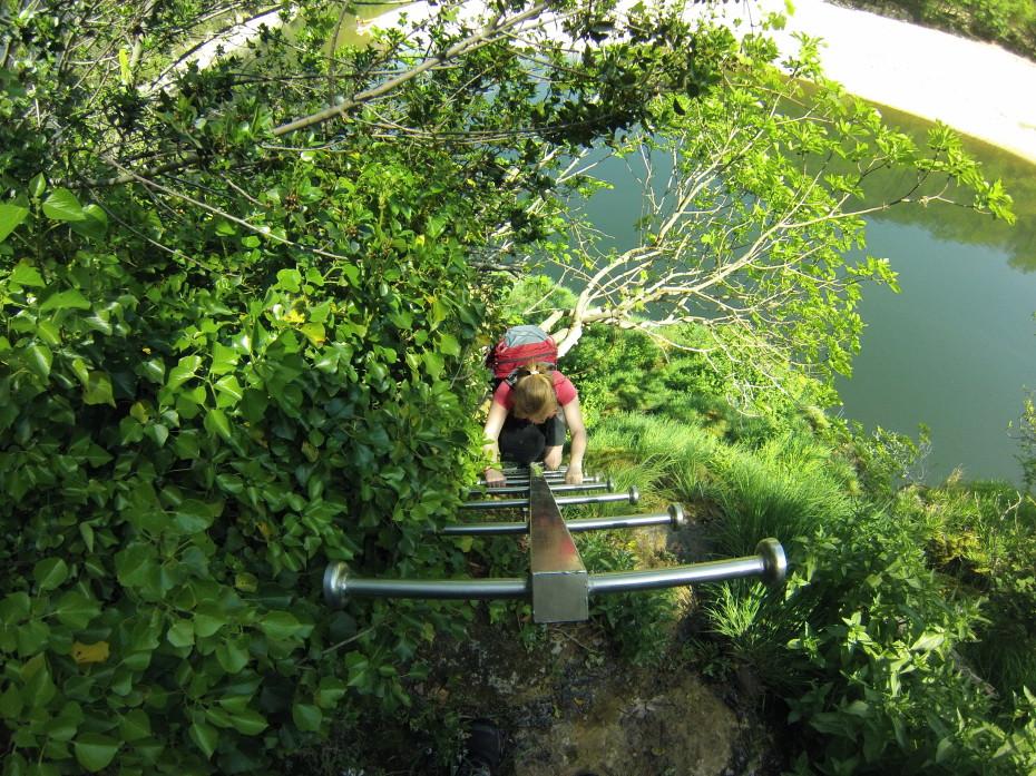 Klimmen op de ladder op ons pad te vervolgen.