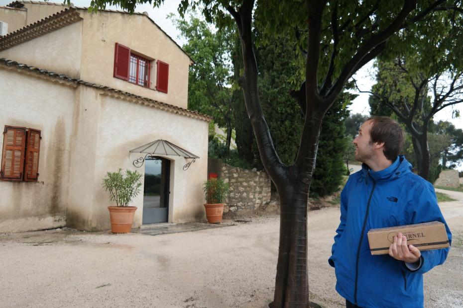 De lokale wijnboer in Cassis.