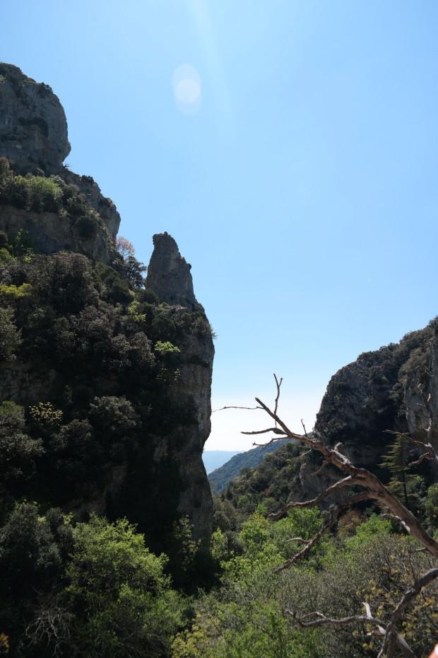 Ondanks het doodlopende pad toch nog een prachtig uitzicht.