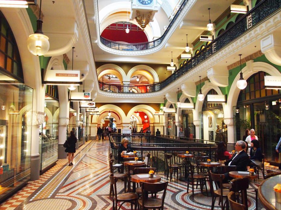 Queen Victoria Building van binnen