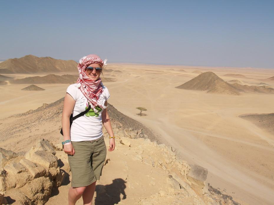 In de woestijn