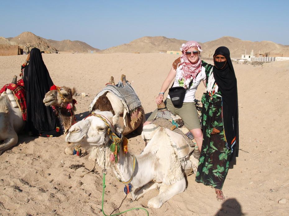 Op de foto met de bedoeine