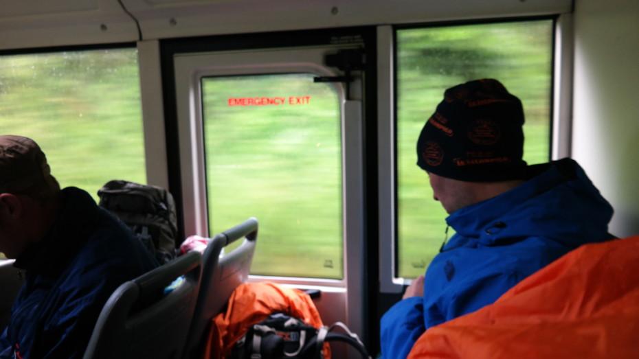 In de bus richting Fishgard