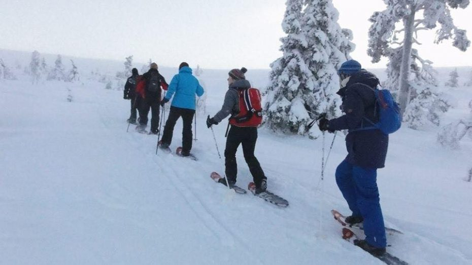 Reporter Marloes in Lapland
