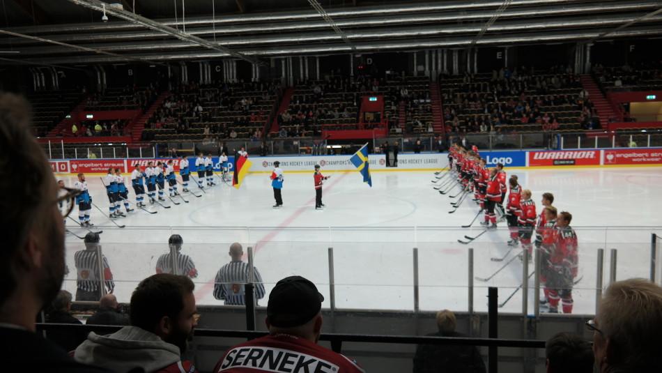 Openingsceremonie Frolunda - ERC Ingolstadt