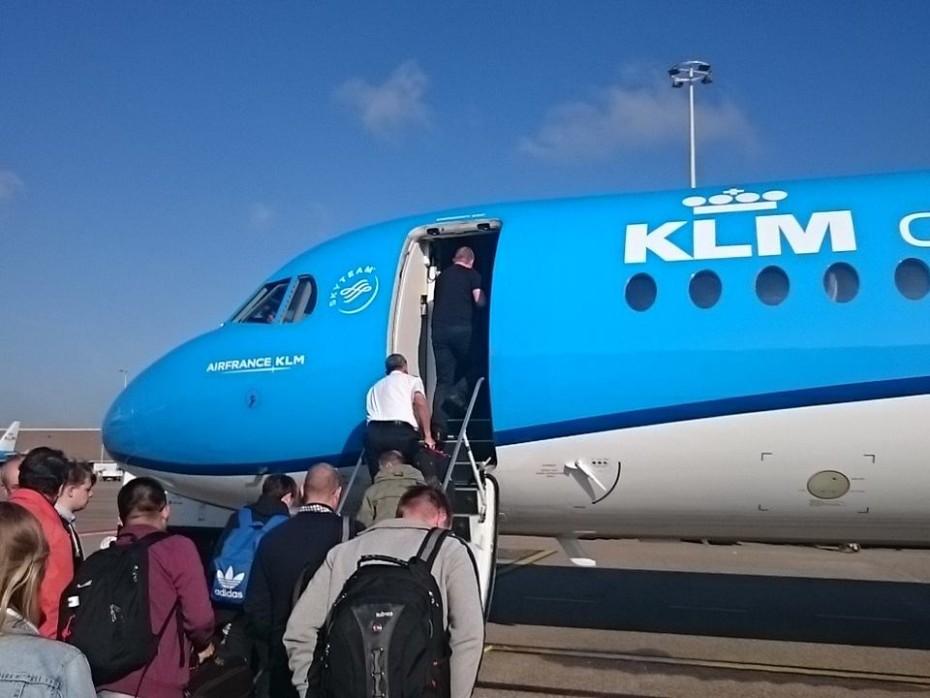 Vlucht met KLM richting Belfast