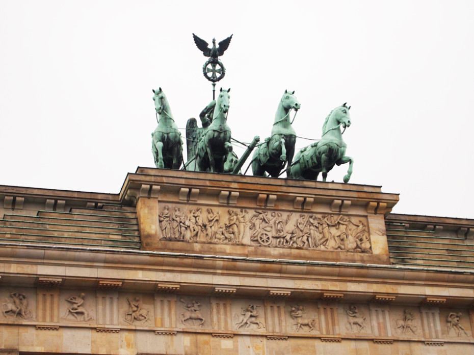 Close up Brandenburger Tor in Berlijn