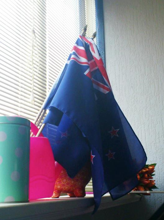 Herinneringen aan mijn vlag uit Nieuw-Zeeland