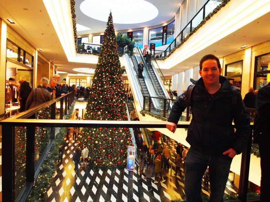 Winkelcentrum volledig in kerstsferen