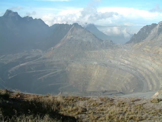 Grasberg mine, de grootste goudmijn ter wereld