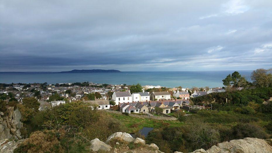 Uitzicht op de kust vlakbij Dublin!