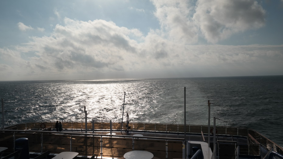 Uitzicht op de boot