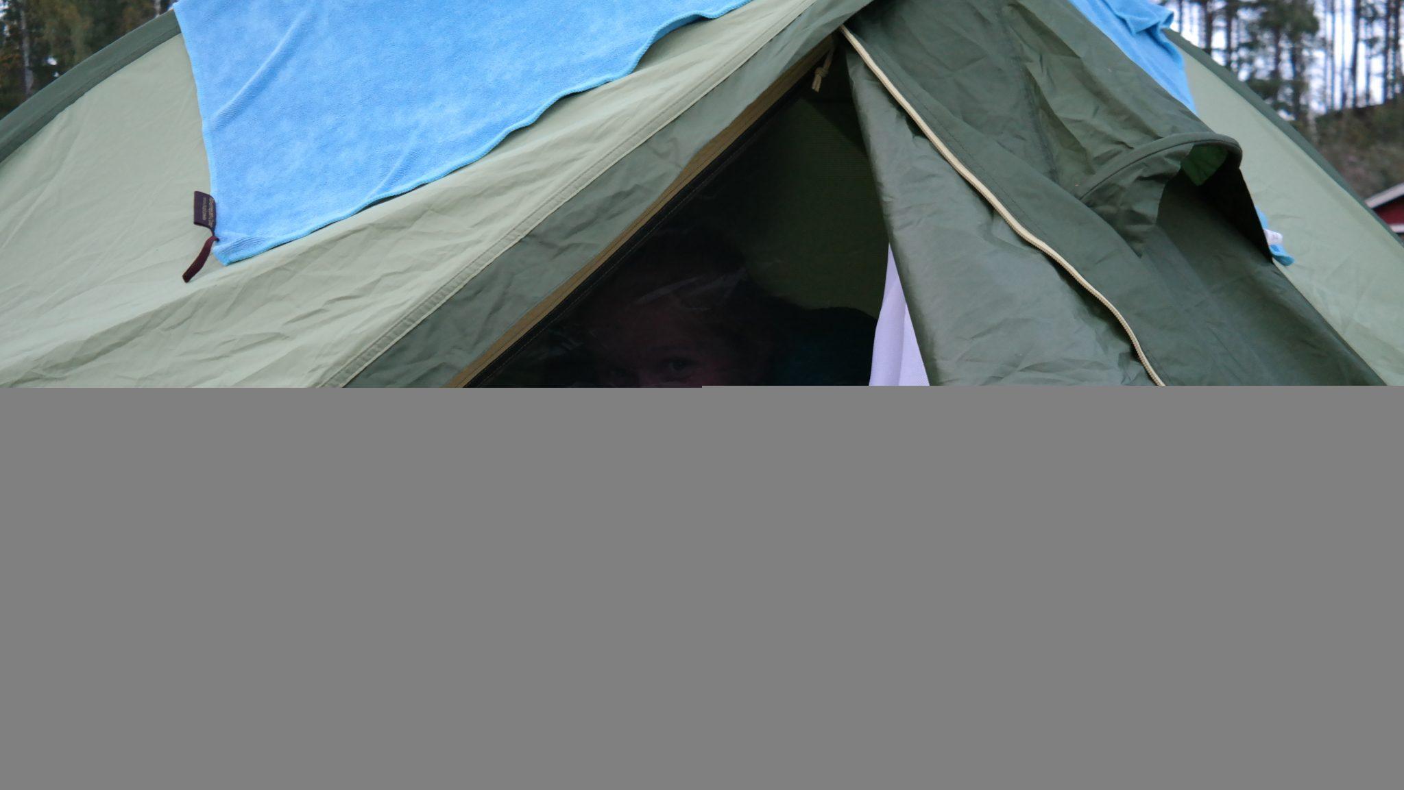 De tent is onderhand mijn thuis