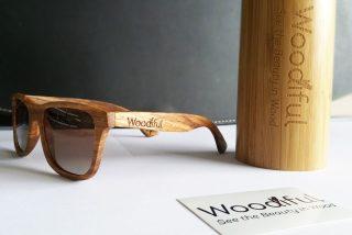 Woodiful houten zonnebril Zealous Zebra