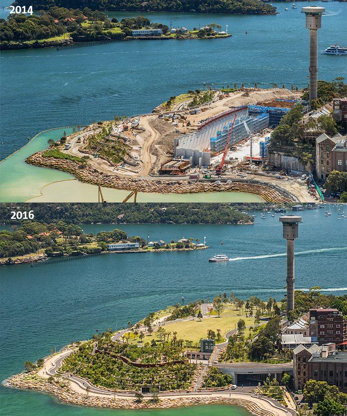 Barangaroo in 2014 en in 2016!