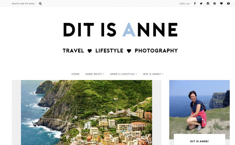 Dit Is Anne reisblog