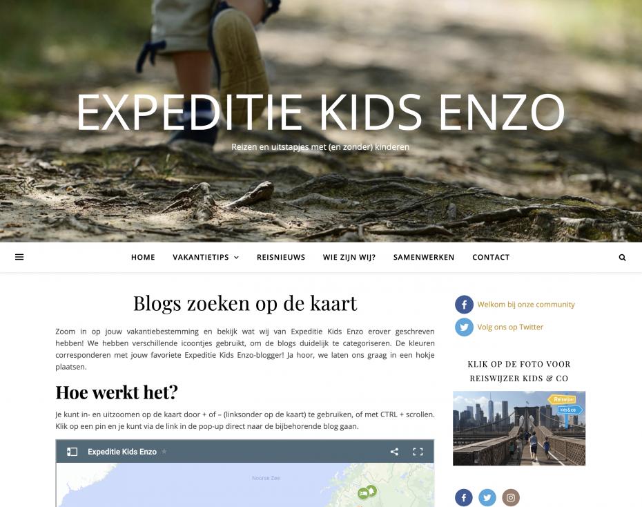 Expeditie Kids Enzo reisblog