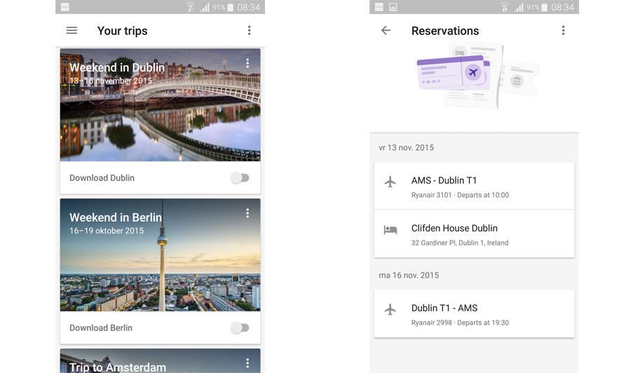 Google Trips: zie in 1 keer je reserveringen voor je volgende trip!