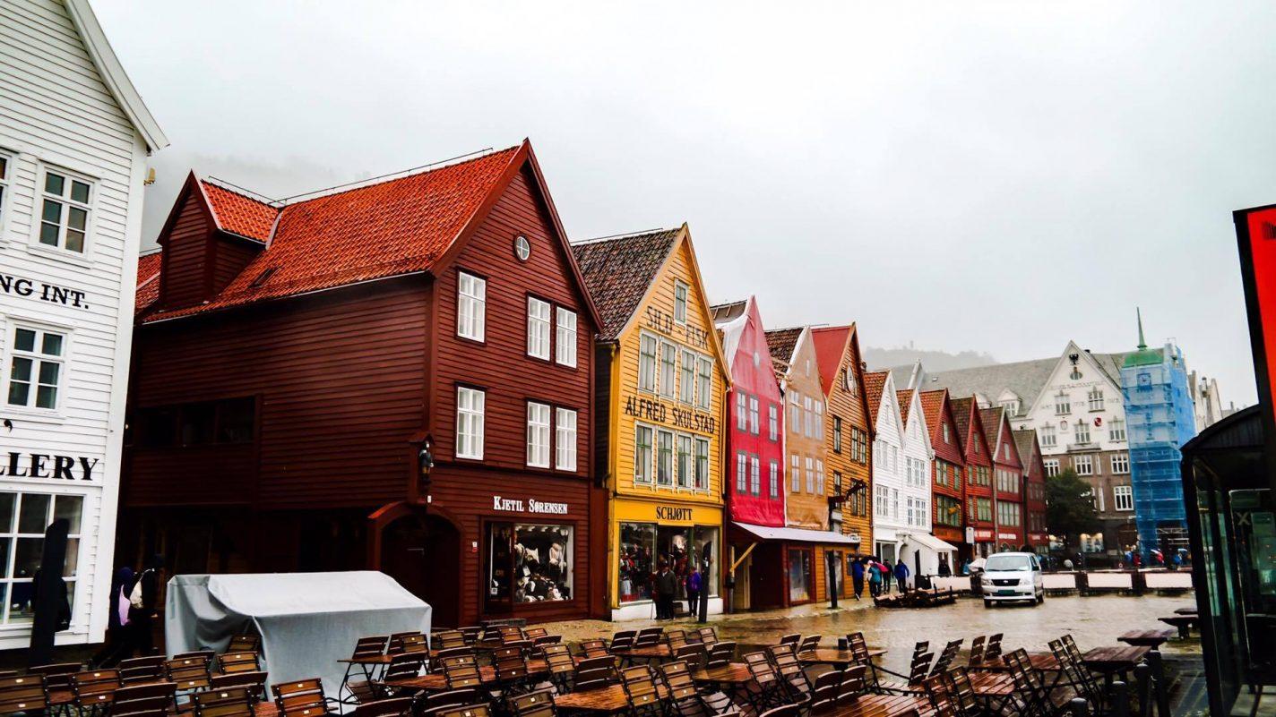Het kleurrijke Bergen in Noorwegen