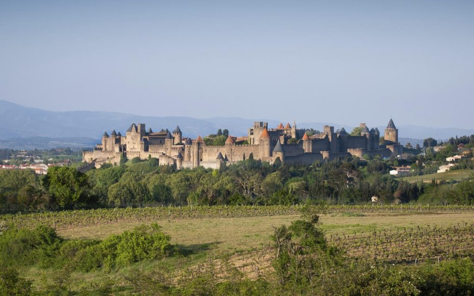 The medieval city of Carcassonne, France.