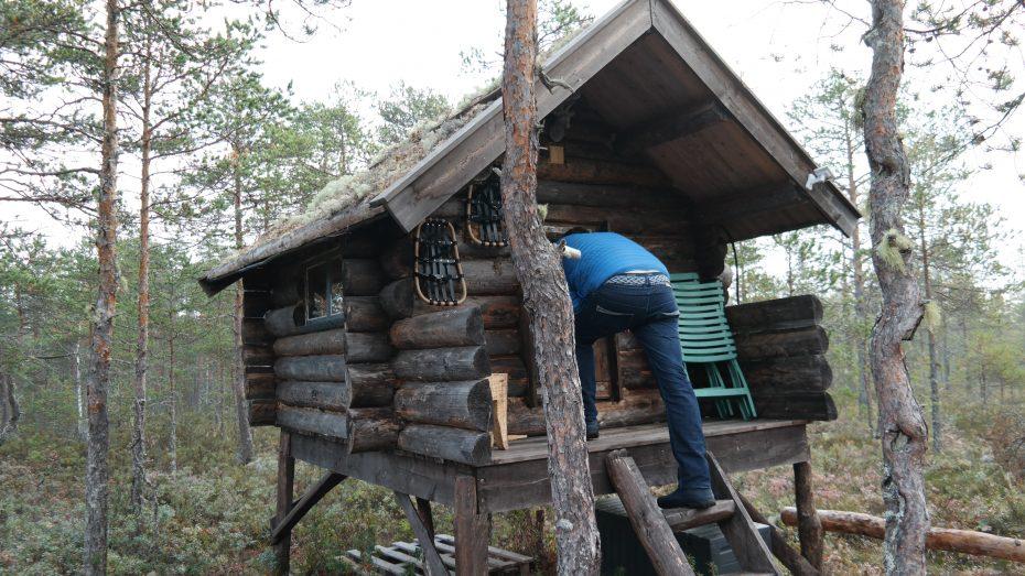 Dit hutje is beschikbaar voor de kinderen (of volwassenen natuurlijk!)