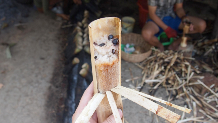 sticky rice in bamboo