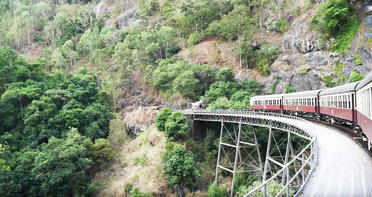 Met de trein richting Kuranda