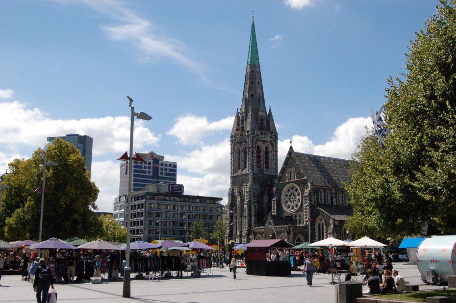 Cathedral in Christchurch - voor de aardbeving