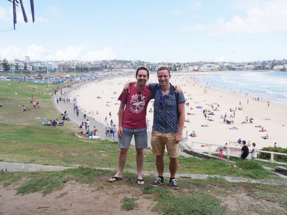 Reporters Jesper en Martin bij Bondi Beach, Sydney!