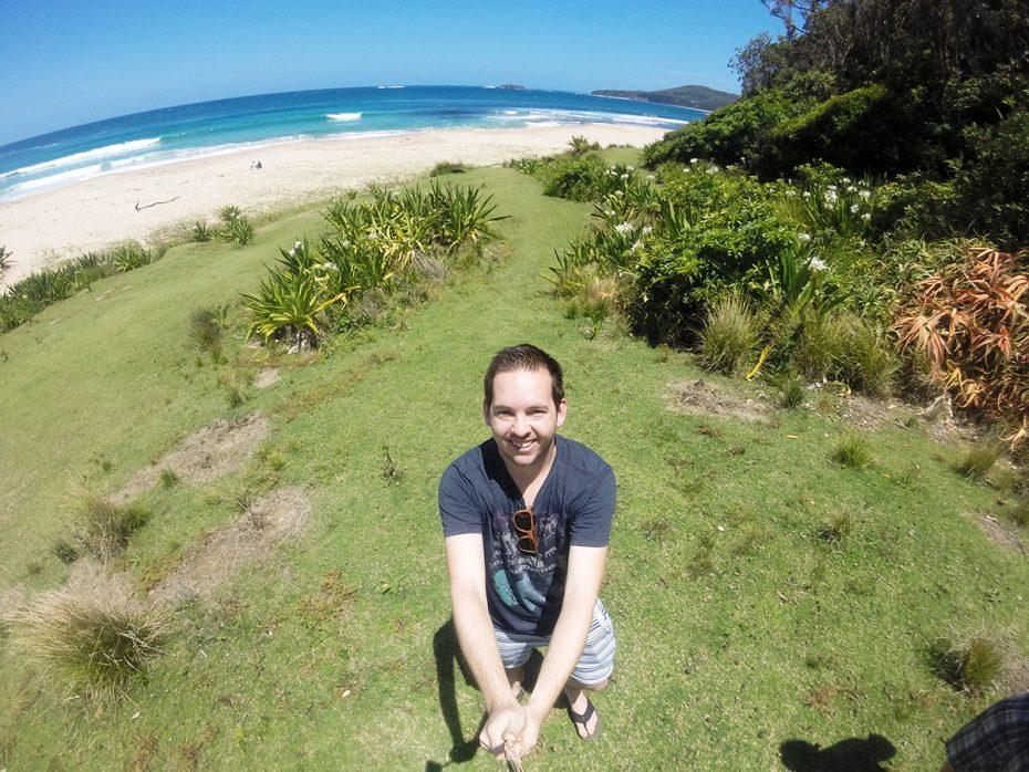 Reporter Jesper op Pebbly Beach! - Oostkust Australië