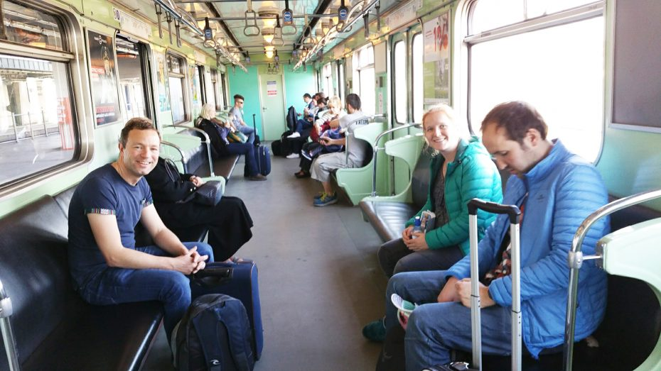 Metro richting de stad!