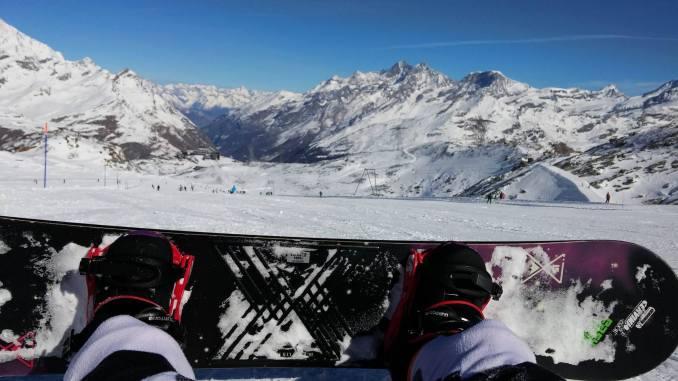 Snowboarden bij de Italiaanse Dolomieten