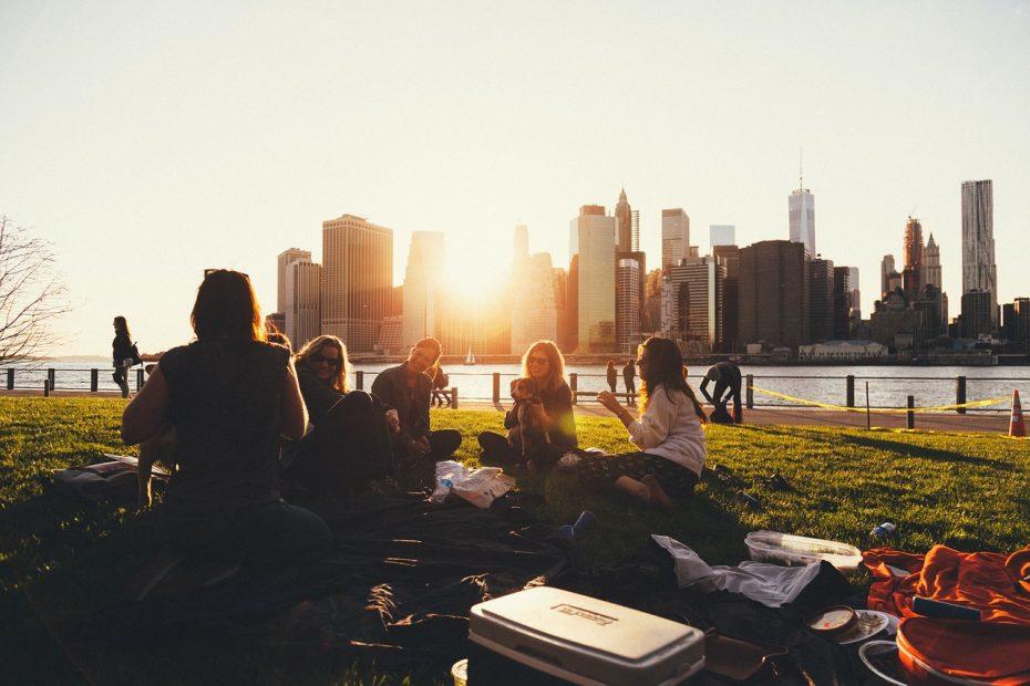 Picknicken in het park!