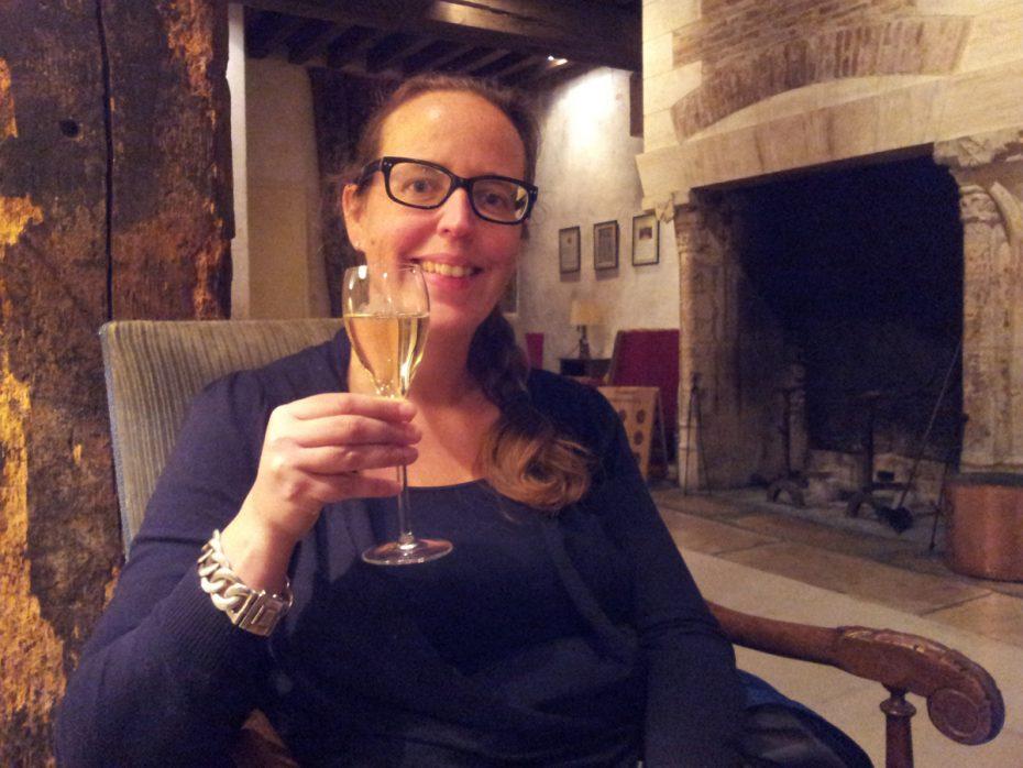 Champagne drinken in de Champagne streek Frankrijk