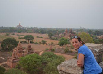 Eva in Bagan, Myanmar