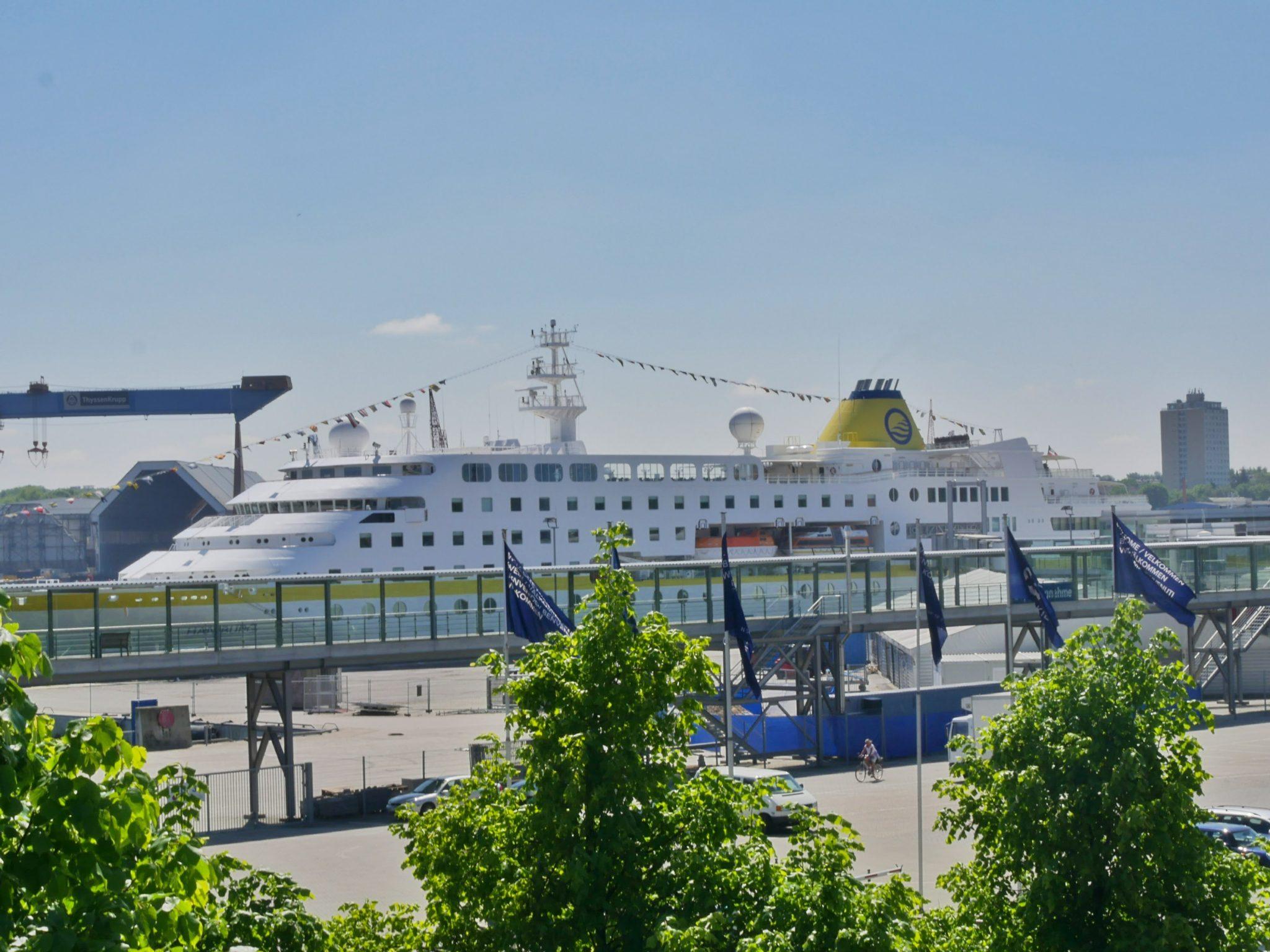 Cruiseterminal in Kiel, Duitsland!
