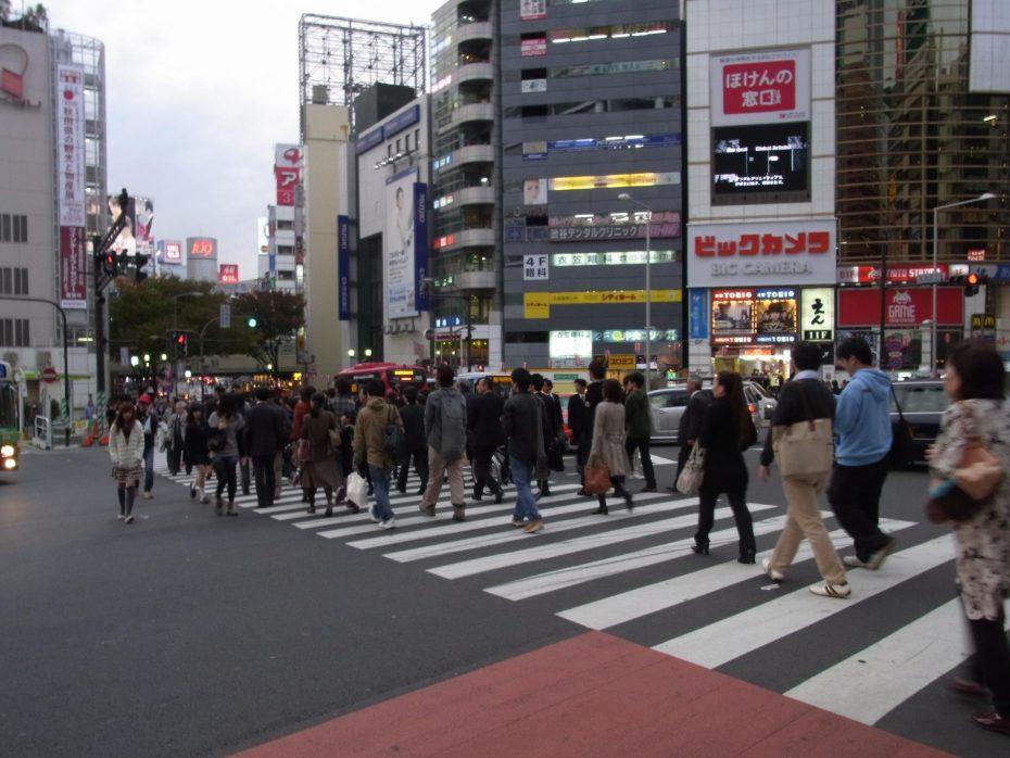 Oversteken in Tokyo - Foto: Tokiotours