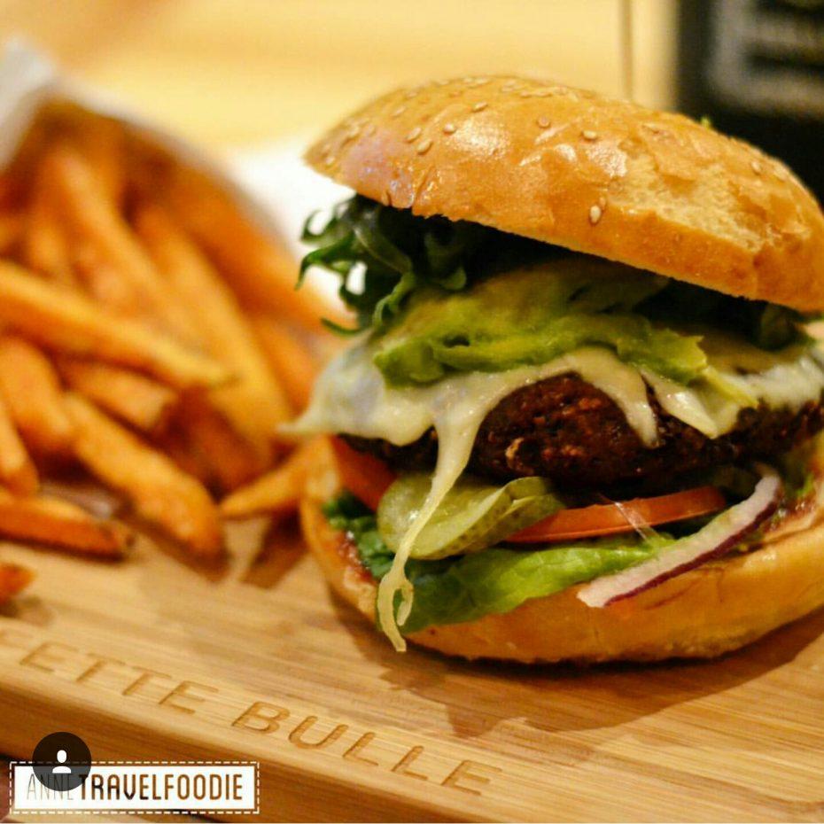 Der fette bulle vegetarian burger!